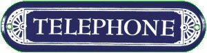 Telephone Metal Sign