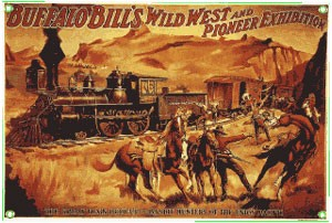 Buffalo Bill's Great Train Metal Sign