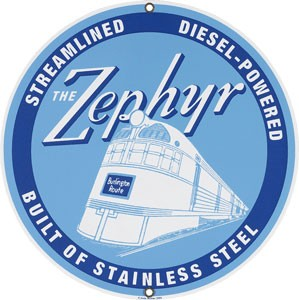 The Zephyr Metal Sign