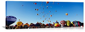 Albuquerque, New Mexico International Balloon Festival Panorama Picture