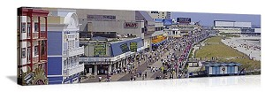 Atlantic City, New Jersey Boardwalk Panorama Picture