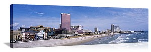 Atlantic City, New Jersey Beachfront Skyline Panorama Picture