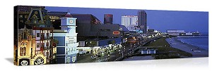 Atlantic City, New Jersey Boardwalk Skyline Panorama Picture