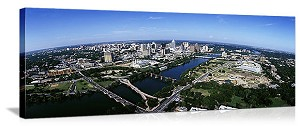 Austin, Texas Aerial Skyline Panorama Picture