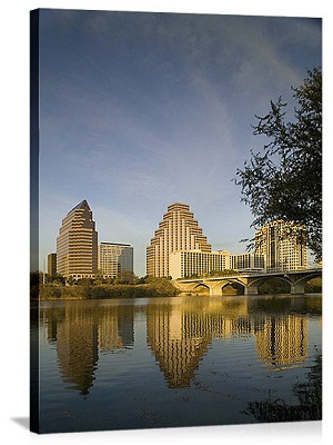 Austin, Texas Reflection in Town Lake Panorama Picture