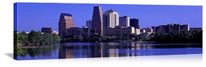 Austin, Texas Waterfront Skyline Panorama Picture