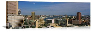 Baltimore, Maryland  Harbor View Skyline Panorama Picture