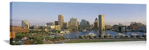 Baltimore, Maryland Waterfront Skyline Panorama Picture