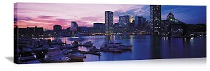 Baltimore, Maryland  Harbor at Sunset Panorama Picture