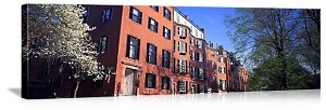 Boston, Massachusetts Louisburg Square Beacon Hill Panorama Picture