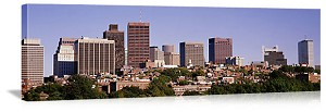 Boston, Massachusetts Beacon Hill Skyscrapers Panorama Picture