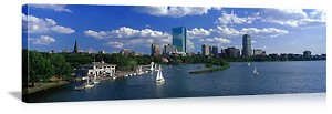 Boston, Massachusetts  Waterfront Skyline Panorama Picture