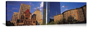 Boston, Massachusetts Copley Square Skyline Panorama Picture