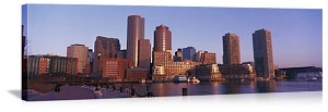 Boston, Massachusetts Morning Skyline Panorama Picture