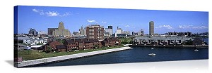 Buffalo, New York Erie Basin Marina Panorama Picture