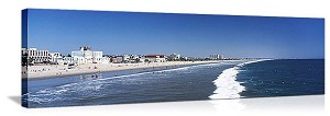 Santa Monica, California Beachfront Skyline Panorama Picture