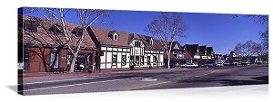 Solvang, California Streetscape Panorama Picture