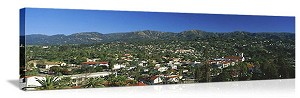 Santa Barbara, California City Skyline Panorama Picture