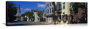 Charleston, South Carolina Church Street District Panorama Picture
