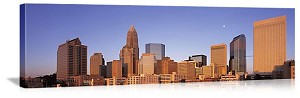 Charlotte, North Carolina Downtown Skyline Panorama Picture
