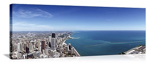 Chicago, Illinois Lake Michigan Spectacular Panorama Picture