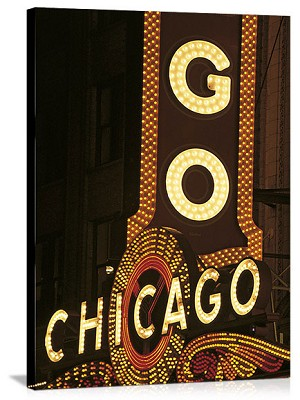 Chicago, Illinois Chicago Theater Neon Panorama Picture