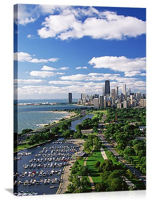 Chicago, Illinois Diversey Harbor Panorama Picture