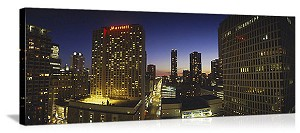 Chicago, Illinois Marriott Skyline Panorama Picture