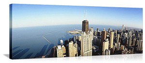 Chicago, Illinois Hancock Building Skyline Panorama Picture