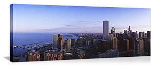 Chicago, Illinois North Shore Skyline Panorama Picture