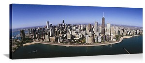 Chicago, Illinois Loop Lakeshore Panorama Picture
