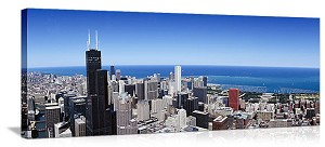 Chicago, Illinois Willis Tower Skyline Panorama Picture