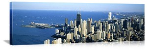 Chicago, Illinois Lakefront Aerial View Panorama Picture