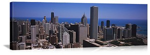 Chicago, Illinois Aerial Skyline View Panorama Picture
