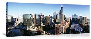 Chicago, Illinois City Buildings Panorama Picture