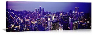 Chicago, Illinois City Skyline Panorama Picture