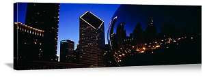 Chicago, Illinois Cloud Gate, Millennium Park Panorama Picture