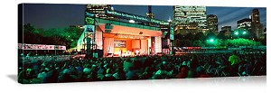 Chicago, Illinois Grant Park Concert at Night Panorama Picture