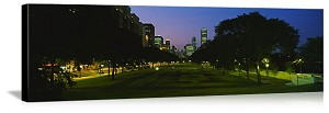 Chicago, Illinois Grant Park at Night Panorama Picture