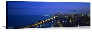 Chicago, Illinois Lake Shore Drive Panorama Picture