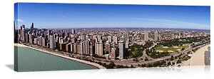 Chicago, Illinois Lakefront Skyline Panorama Picture