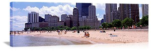 Chicago, Illinois Oak Street Beach Panorama Picture