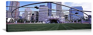 Chicago, Illinois Pritzker Pavilion Panorama Picture