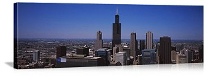 Chicago, Illinois Sears Tower Skyline Panorama Picture