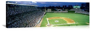 Chicago, Illinois Wrigley Field at Night Panorama Picture