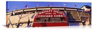 Chicago, Illinois Wrigley Field Sign Panorama Picture