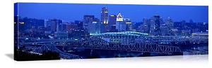 Cincinnati, Ohio Bridges Panorama Picture
