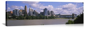 Cincinnati, Ohio Downtown Waterfront Panorama Picture