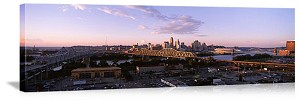 Cincinnati, Ohio River Bridges Panorama Picture