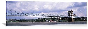 Cincinnati, Ohio Ruebling Bridge Panorama Picture